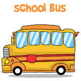 Transportation of school bus collection Royalty Free Stock Photo