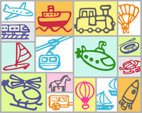 Transportation - sea,rail,air royalty free stock image