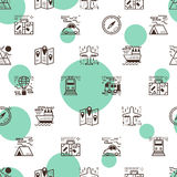 Transportation seamless pattern Royalty Free Stock Photography