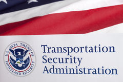 Transportation Security Administration Form Royalty Free Stock Photography