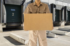 Transportation service from loading bay Stock Photography