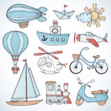Transportation set. Royalty Free Stock Images