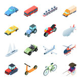 Transportation set icons in cartoon style. Big collection of transportation vector symbol stock illustration Royalty Free Stock Images