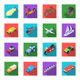 Transportation set icons in flat style. Big collection of transportation symbol Royalty Free Stock Image