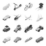 Transportation set icons in monochrome style. Big collection of transportation vector symbol stock illustration Royalty Free Stock Images