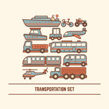 Transportation set Stock Image