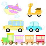 Transportation set Royalty Free Stock Photo