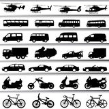 Transportation set vector Stock Images