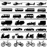 Transportation set vector Stock Images