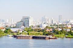 Transportation by ship. In chao phra ya river, bangkok,thailand Stock Image