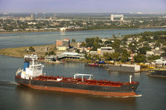 Transportation: Shipping on the Mississippi River Stock Photo