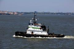 Transportation: Shipping on the New York Harbor Stock Image