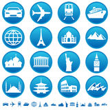 Transportation & sights. Set of transportation and sights icons