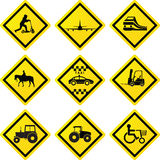 Transportation signs Royalty Free Stock Photos