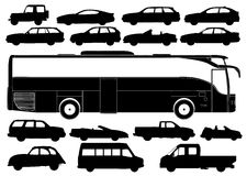 Transportation Silhouettes Vector Royalty Free Stock Images