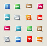 Transportation simply icons Stock Image