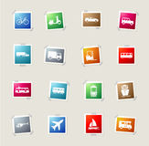 Transportation simply icons Stock Photo