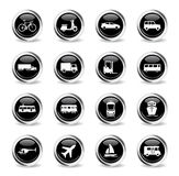 Transportation simply icons Royalty Free Stock Image