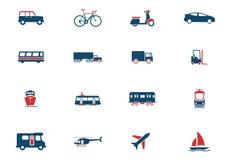 Transportation simply icons Stock Photos