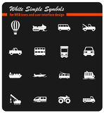 Transportation simply icons Stock Photography