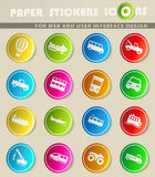 Transportation simply icons Stock Images