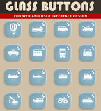 Transportation simply icons Royalty Free Stock Photography