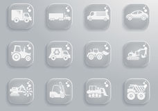 Transportation simply icons Royalty Free Stock Images