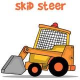 Transportation of skid steer vector Stock Photo