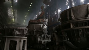 Transportation slag in metallurgical plant. Transportation slag from the metallurgical plant stock footage