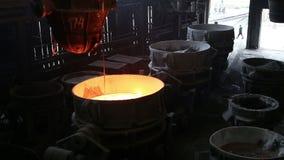 Transportation slag in metallurgical plant. Transportation slag from the metallurgical plant stock video