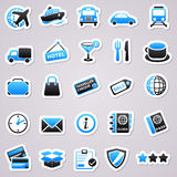 Transportation stickers Stock Image