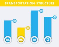 Transportation structure infographics elements Stock Photo