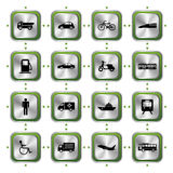 Transportation stylish icons set Stock Images