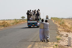 TRANSPORTATION ON SUDANESE ROAD Stock Photo