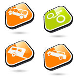 Transportation symbols Stock Images