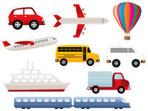 Transportation symbols Royalty Free Stock Photography