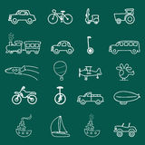 Transportation symbols Royalty Free Stock Photos