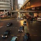 Transportation system f big city royalty free stock photography