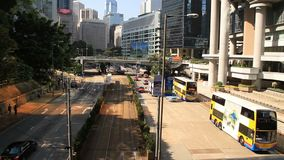Transportation system of modern city in rush hour stock video footage