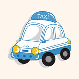 Transportation taxi theme elements vector,eps Royalty Free Stock Photos