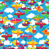 Transportation Themed Seamless Tileable Background Pattern Royalty Free Stock Photo