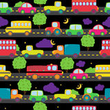 Transportation Themed Seamless Tileable Background Pattern Stock Image