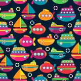 Transportation Themed Seamless Tileable Background Pattern Royalty Free Stock Photography
