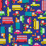 Transportation Themed Seamless Tileable Background Pattern. Transportation Themed Seamless Tileable Background or Pattern Royalty Free Stock Photo