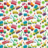 Transportation Themed Seamless Tileable Background Pattern Stock Photography