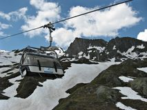 Transportation to   the  Kitzsteinhorn Glacier Stock Photography