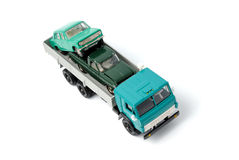 Transportation of toy cars for disposal Stock Photos