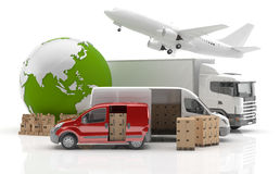 Transportation. Trade in Asia. Vehicles for the transport of goods Stock Image