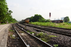 Transportation by train. Transportation by train, Bangsue railway, Thailand Stock Photo