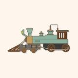 Transportation train theme elements vector,eps. Vector illustration file Stock Image